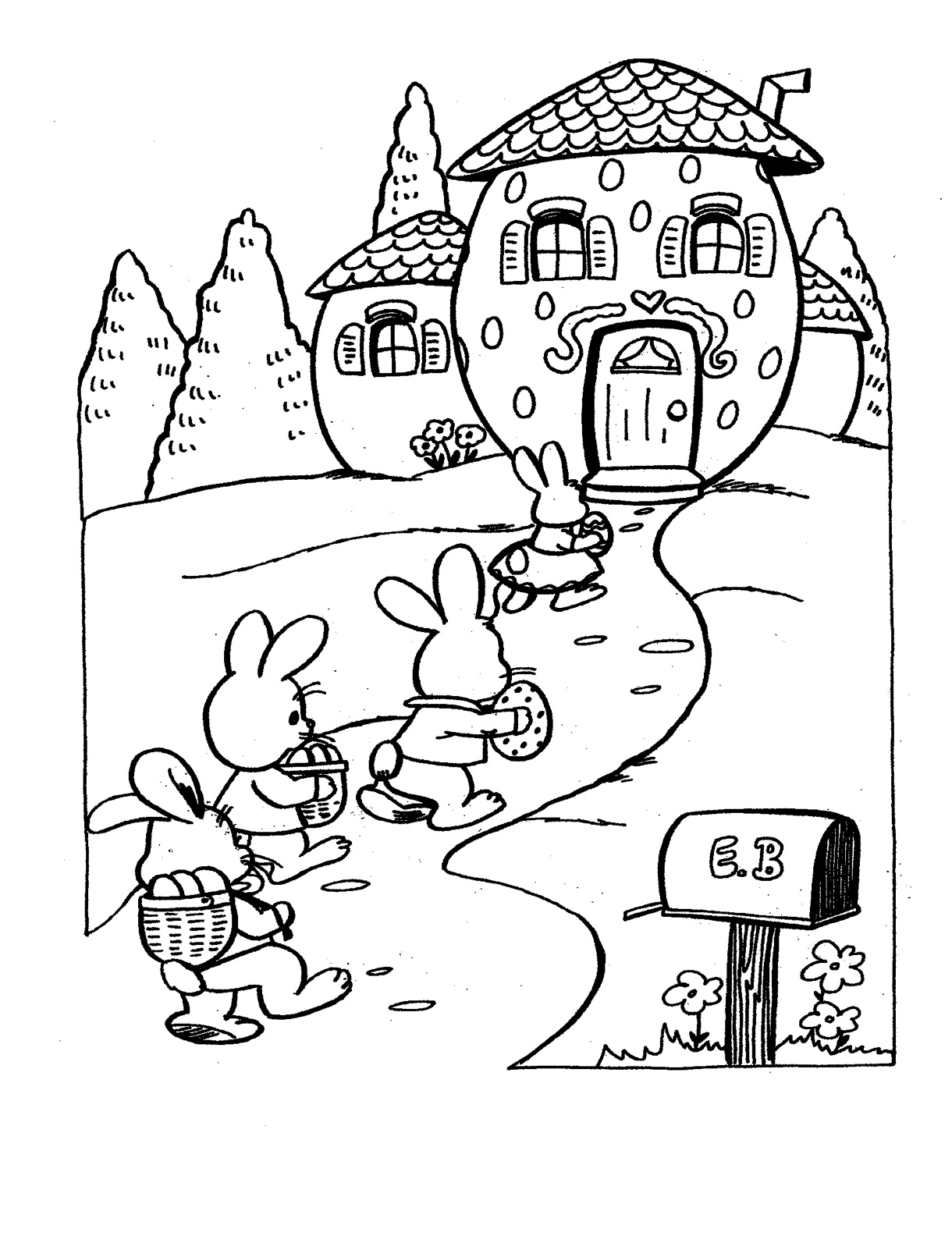 school projects easter coloring pages - photo#23