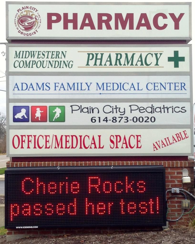 Cherie Rocks sign