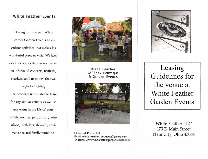 White Feather Garden Event