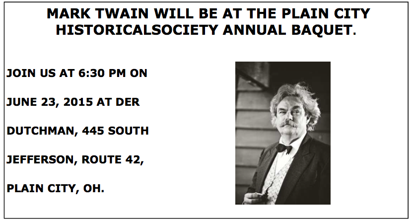 Mark Twain at PC Historical Society dinner