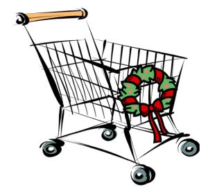 shopping cart christmas white