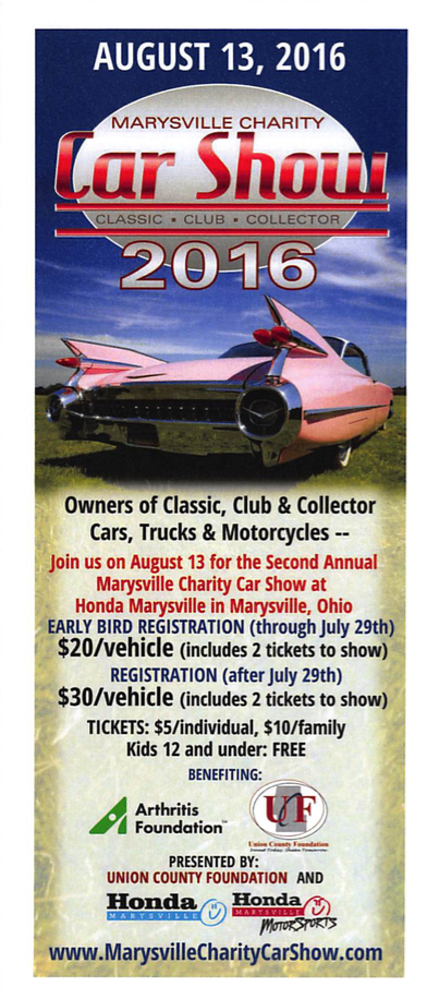 Second Annual Marysville Charity Car Show Is August 13