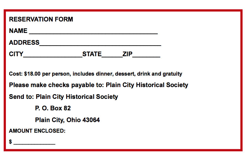 Historical Society form