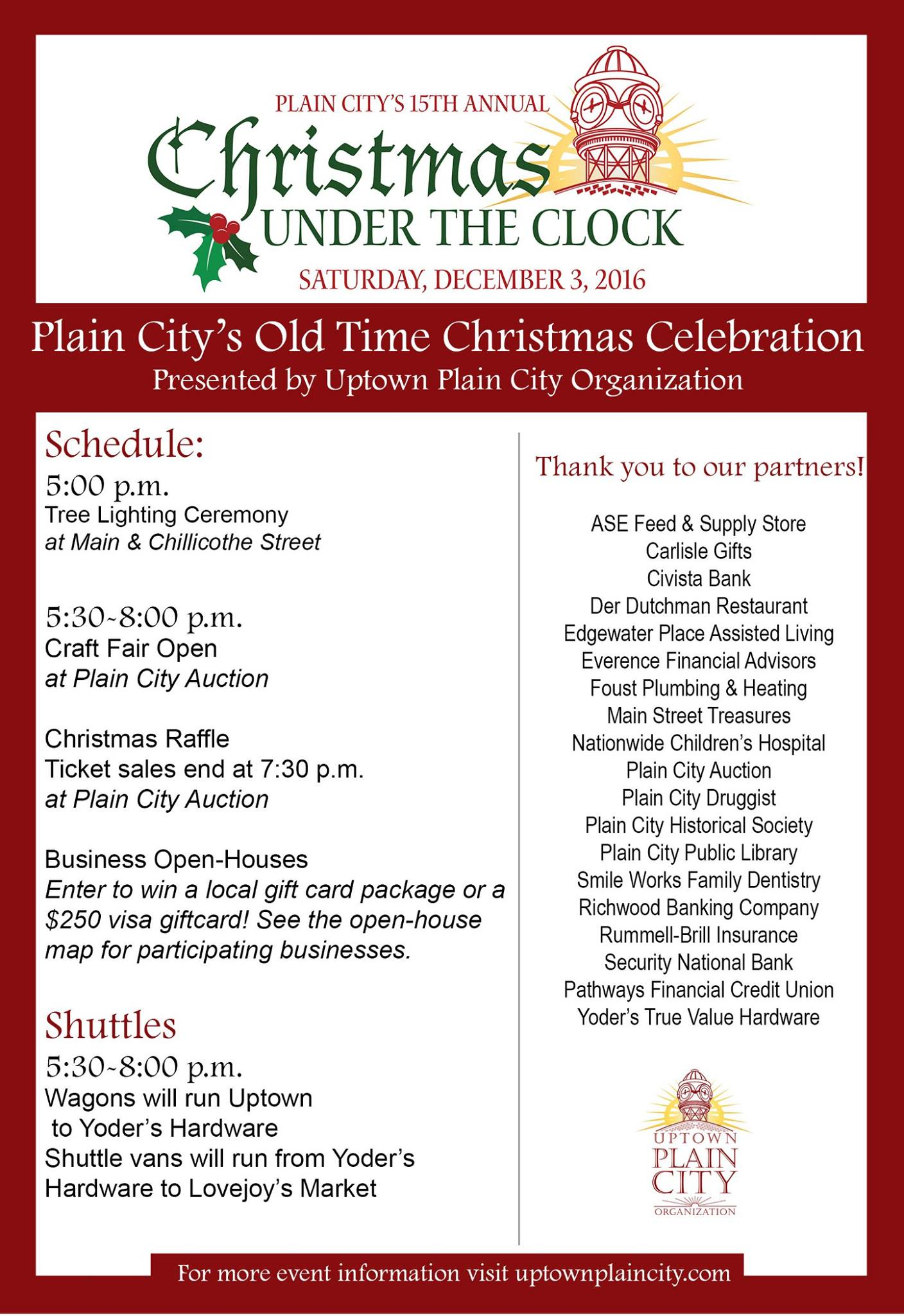 Christmas Under the Clock