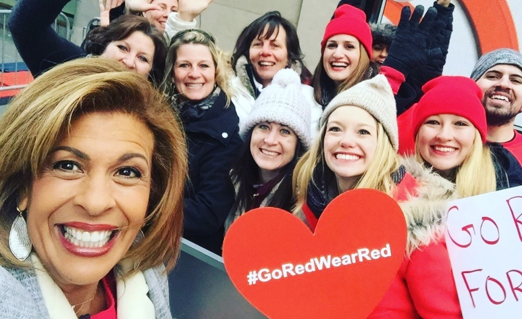 Hoda on national wear red day