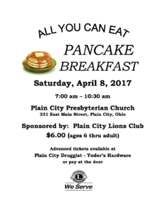 Pancake Flyer for 2017