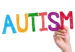 Autism written on the wipe board