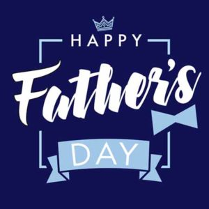 Happy fathers day, vector lettering navy blue greeting card. Happy Fathers Day calligraphy with crown and bow tie banner. Dad is my king illustration