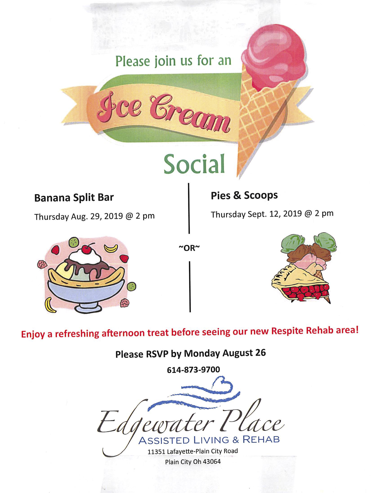 Edgewater Ice Cream Social